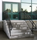 ADA Concrete Stairs with Railings