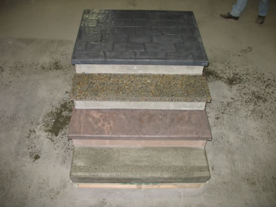 Precast Steps with Custom Colors