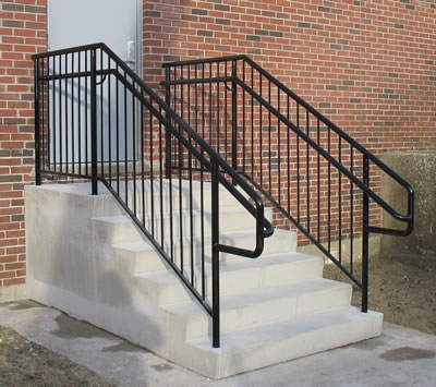 Custom ADA Outdoor Stair Railings